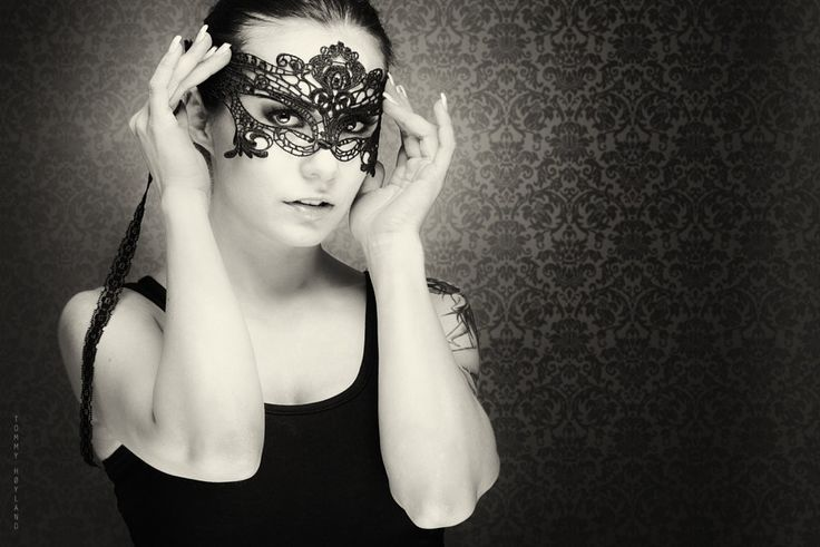 Ballerina with mask