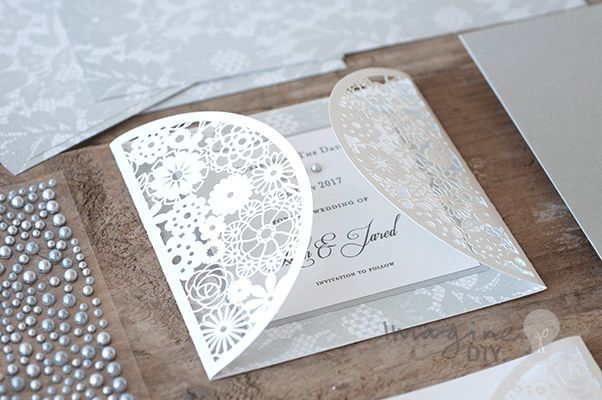 small laser cut invitation to decorate yourself. Floral laser cut wedding stationery blanks.  DIY wedding stationery products and designs from www.imaginediy.co.uk  Imagine DIY, save the date cards, lace wedding ideas, diy wedding, diy wedding stationery, grey wedding ideas, laser cut invitations  #imaginediy #lasercutinvitations #lasercutweddingstationery #lacewedding #laceinvitations #diywedding #diyweddingstationery #diysavethedate #savethedate #greyweddinideas #diyweddingideas