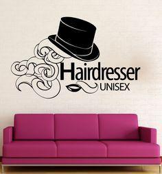 Wall Sticker Vinyl Decal Hairdresser Beauty Salon Unisex Hair Salon (ig2018) #wallstickers4you