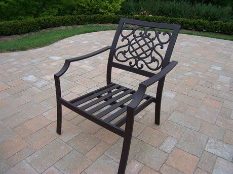 Oakland Living Chat Chair, 4-Pack. Rust Free Cast Aluminum. Hardened Powder Coat Finish in Coffee for Years of Beauty. Easy to Follow Assembly Instructions and Product Care Information. Metal Hardware. No Assembly Required. Rust-Free Aluminum Construction. Hardened Powder Coated Finish in Hammer tone Brown for Years of Beauty. Easy to Follow Product Care Information. All Welded, No Hardware. 1 Year Limited Manufacturers Warranty.