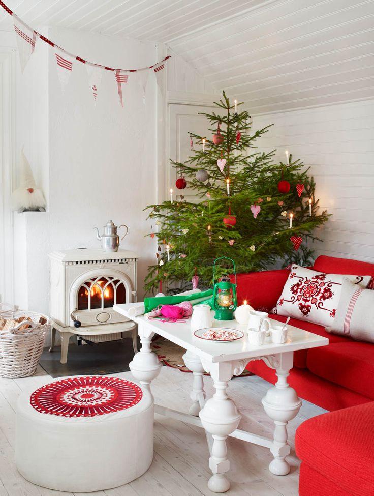 Gör julfint hemma med gamla kökshanddukar | LAND.se