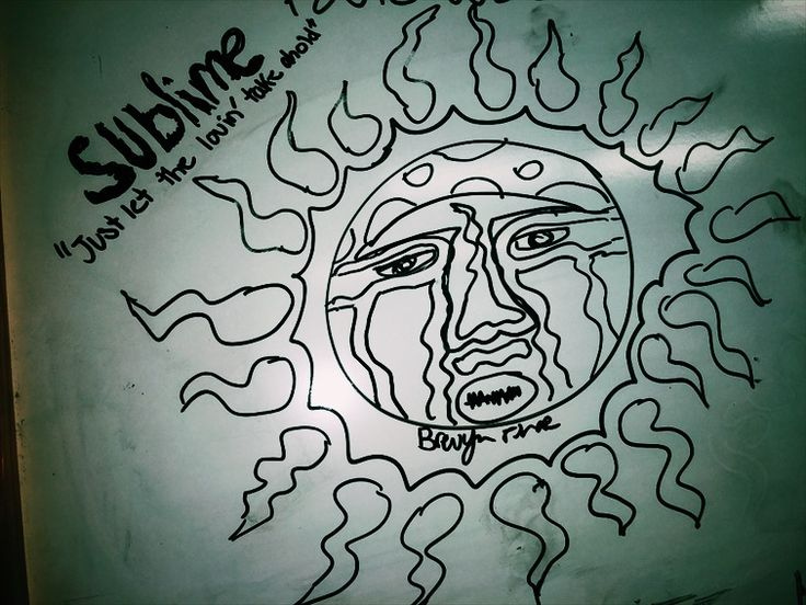 sublime album cover drawing