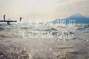 Prendre une respiration de vacances