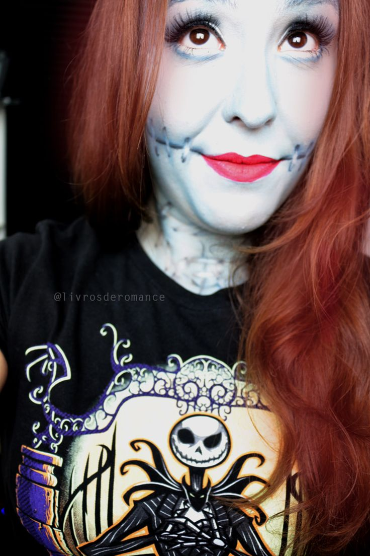 In love with my version of Sally, Nightmare Before Christmas outfit and make up <3