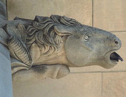 Horse Head Gargoyle Washington National Cathedral