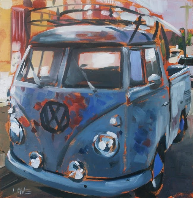 #VW #Kombi #Combi #VW_Van #Dlove #painting #Oil_Painting #punch buggy #punch_buggy