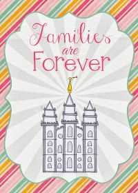 """A Pocket full of LDS prints: 2014 Primary Theme free printables """"Families are Forever"""""""