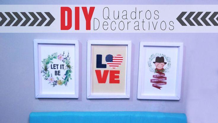 DIY - QUADRINHOS DECORATIVOS POR R$8,00!