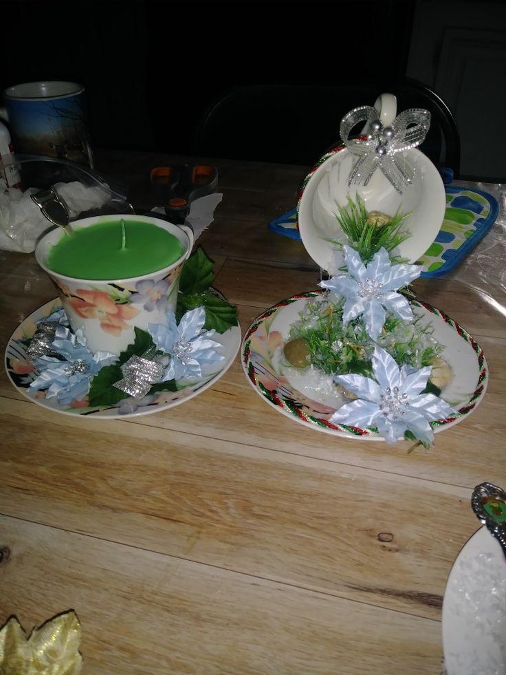 Candle and centerpiece Teacup Set