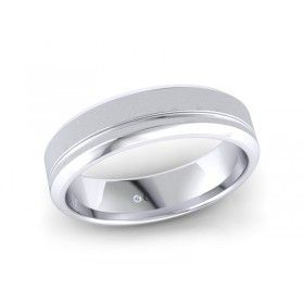 18K White Gold Mens Wedding Band | Diamond Corporation South Africa