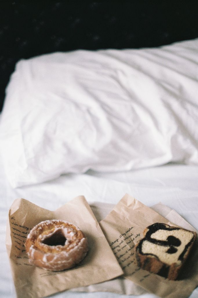 the bed has the power of making everything taste good