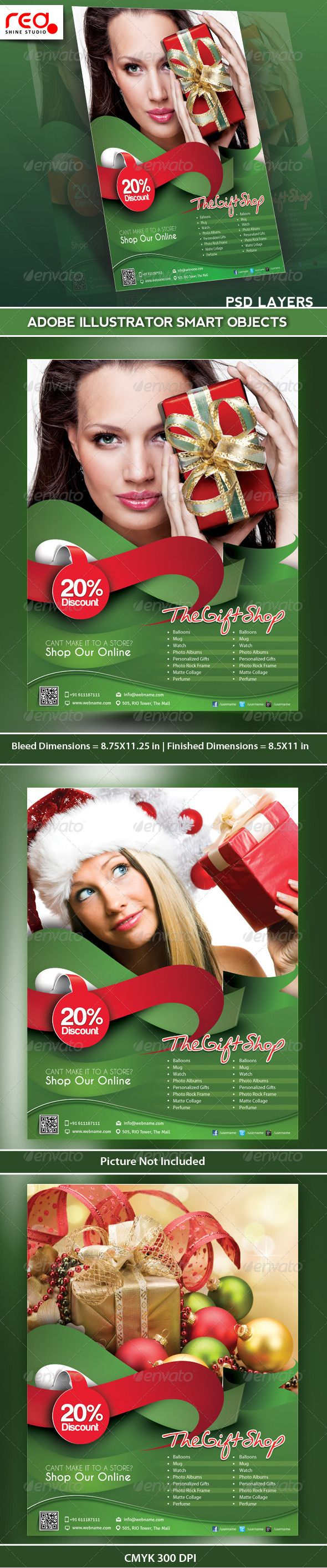 Gift Shop Flyer Poster Magazine Template | Magazines, Print ...