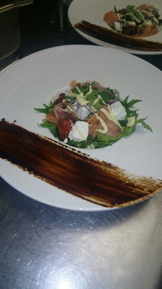 Smoked Salmon and Roasted Cherry Tomato Salad