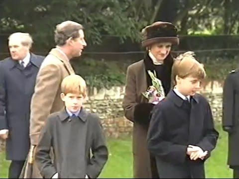 Princess Diana & Princes William-Harry attend Christmas service at Sandr...