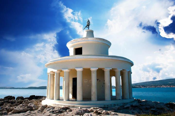 St.Theodore Lighthouse in Kefalonia - the location of our wedding photo's