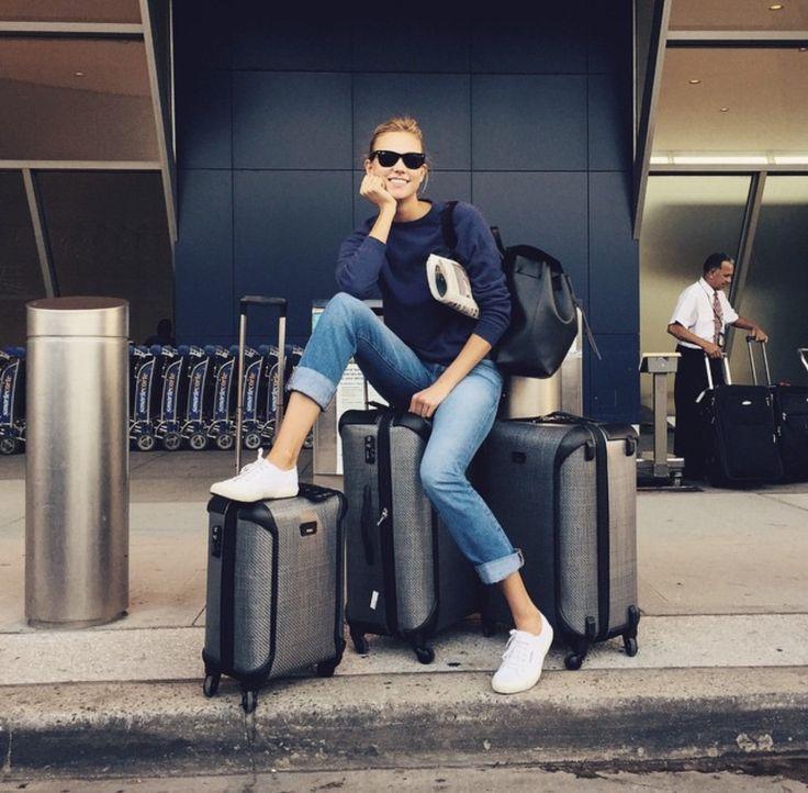 Karlie Kloss' runway style.