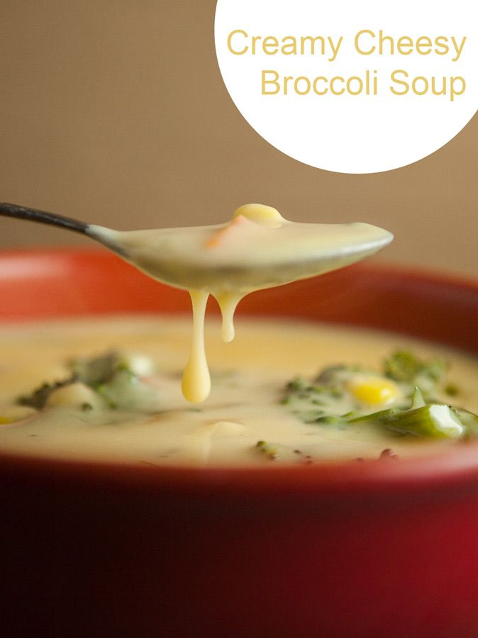 Creamy Cheesy Broccoli Soup | Recipe | Cheesy Broccoli Soup, Broccoli ...