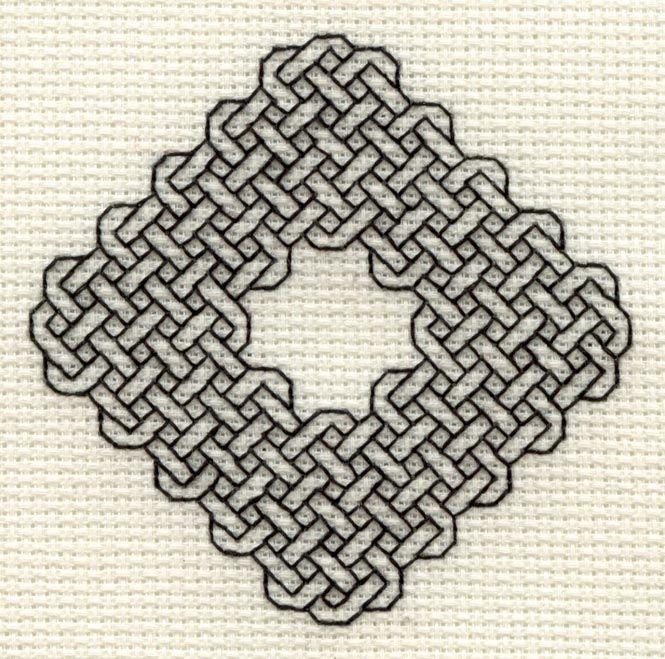 Celtic Diamond Blackwork.                                                                                                                                                                                 More