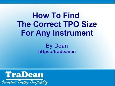 How To Set TPO Size For Any Instrument On A Market Profile