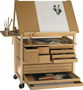 wow now this is an awesome easel and art workstation - Art Studio Design Ideas