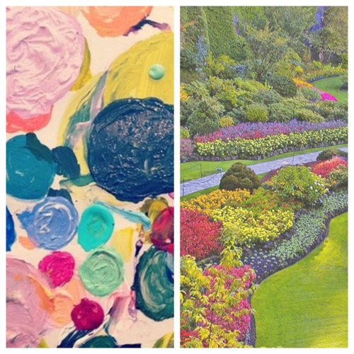 Lulie Wallace's paint palette / Butchart Gardens in Victoria, British Columbia    //photos: paint / butchart gardens