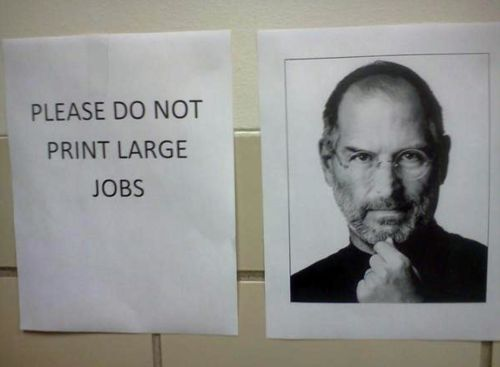 Computers Labs, Funny Pics, Funny Signs, Funny Pictures, Large Job, Funny Stuff, Prints Large, The Rules, Steve Job
