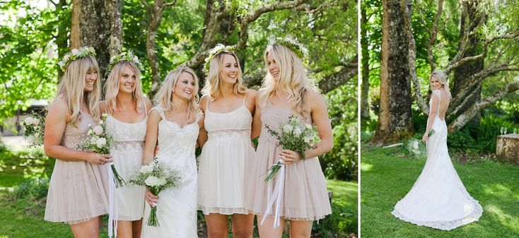 Love the short bridesmaids dresses