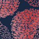 salmon coral navy  fabric - Google Search
