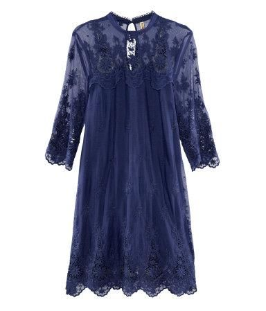 H Navy Lace Dress, $49.95