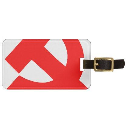 #Primitive Hammer and Sickle Soviet Union CCCP Bag Tag - #luggage #tags