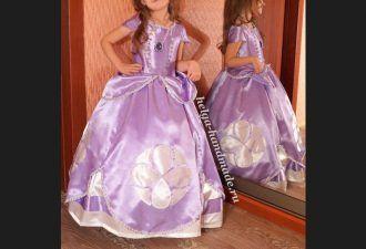 Шьем платье принцессы Софии из одноименного мультфильма