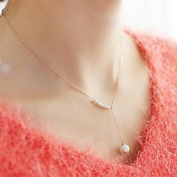 Gold and Silver Plated Pearl Necklace