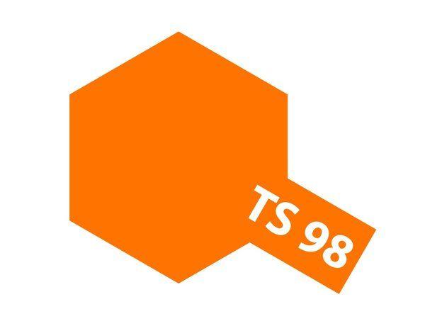 The Tamiya TS-98 Pure orange Acrylic 100ml Spray Paint is just one of many colours from the Tamiya spray paints range.