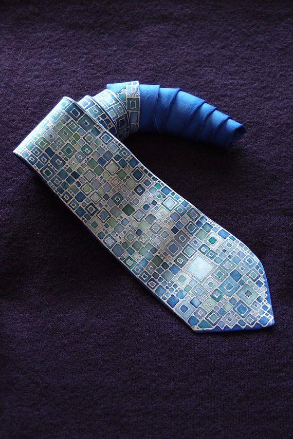 Hand painted silk ties for Gentlemen Very elegant and by BURLESKA