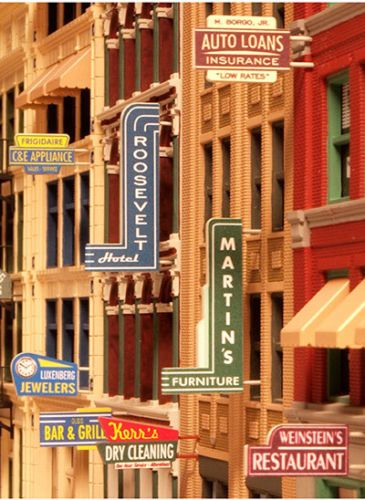 City-Classics-HO-Scale-850-Storefront-Signs-NIB