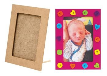 Wooden Frames. A wonderful wooden frame for children to decorate or leave plain for a natural feel.