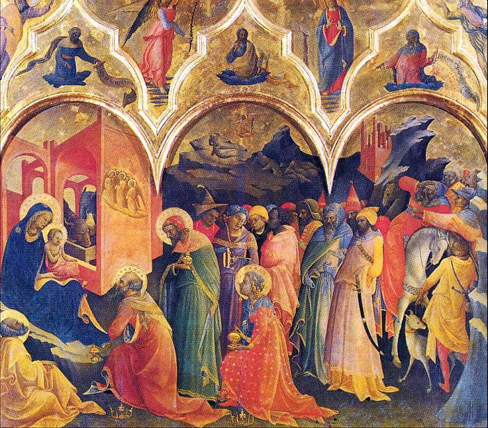 Antonio Vivarini, Antonio of Murano  (ca. 1418-1484) — Adoration of the Magi, 1445-1447  (701×615):