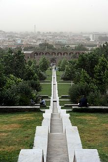 The Gardens of Babur, locally called Bagh-e Babur (Pashto: {{{1}}}/Persian: باغ بابر), is a historic park in Kabul, Afghanistan, and also the last resting-place of the first Mughal emperor Babur