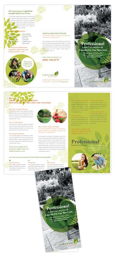 Lawn Care Services Tri Fold Brochure Template  Lawn care services tri fold broch...