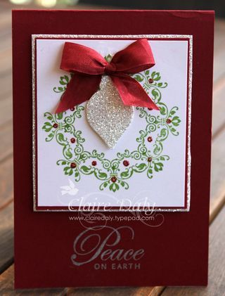 Stampin up Christmas cards daydream medallions wreath