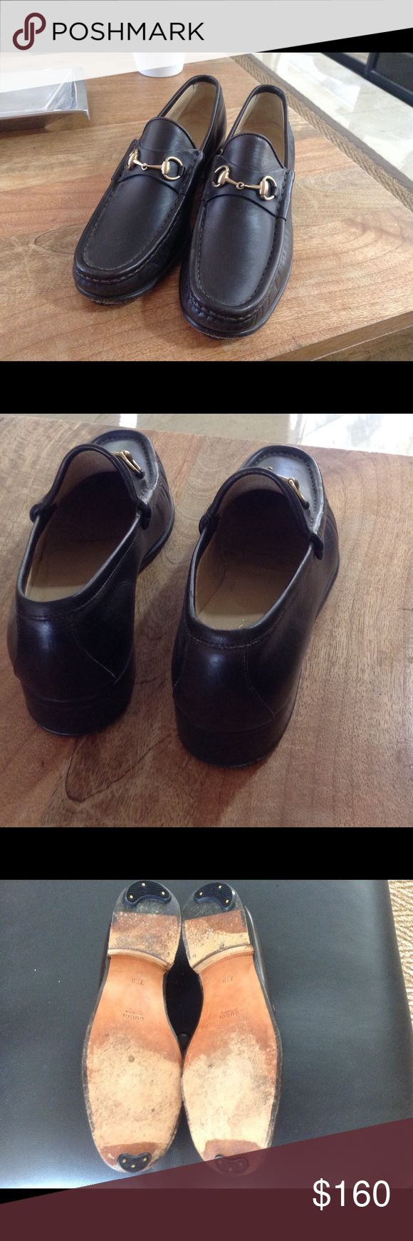 Gucci classic horse bit loafers Rare find in elegant brown leather, almost new worn only three times, toe and heel guards Shoes Flats & Loafers