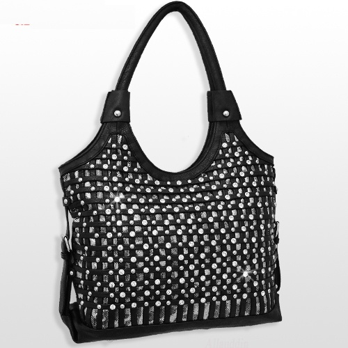 Black Cowgirl Rhinestone Bling Purse