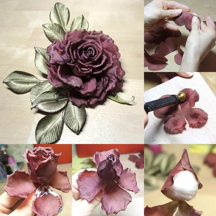 How to make incredible rose flower with fabric: TUTORIAL