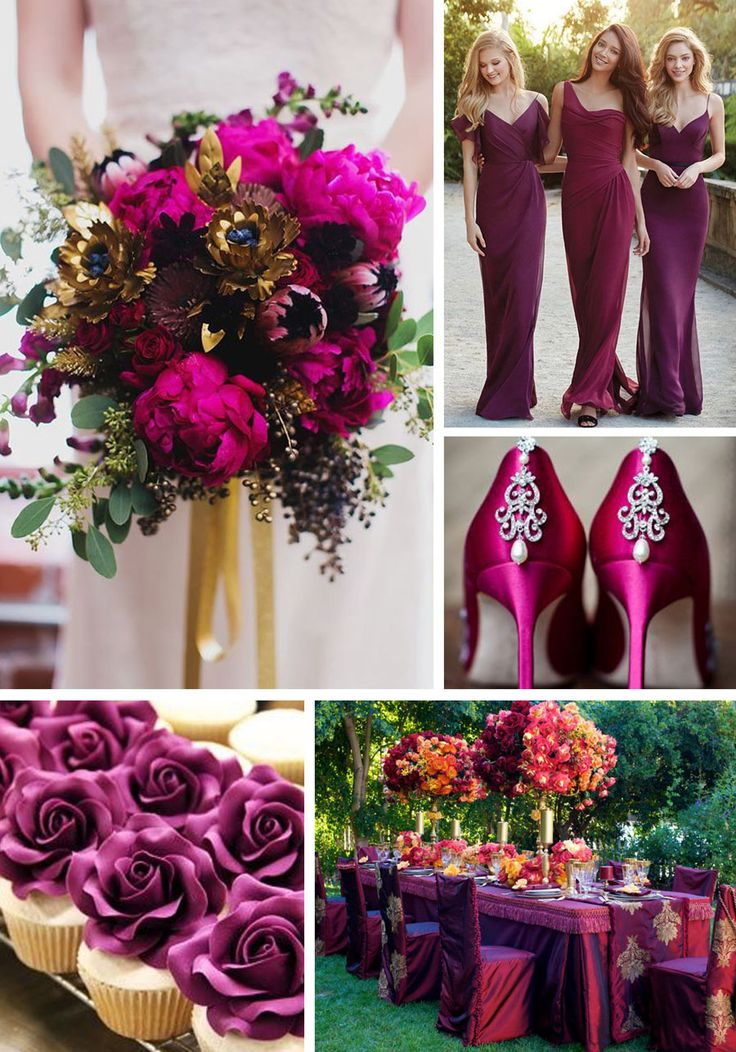 Pastels and neutrals have their day under the sun while fall and winter usher in jewel toned wedding colors that are fit for royalty with rich hues.