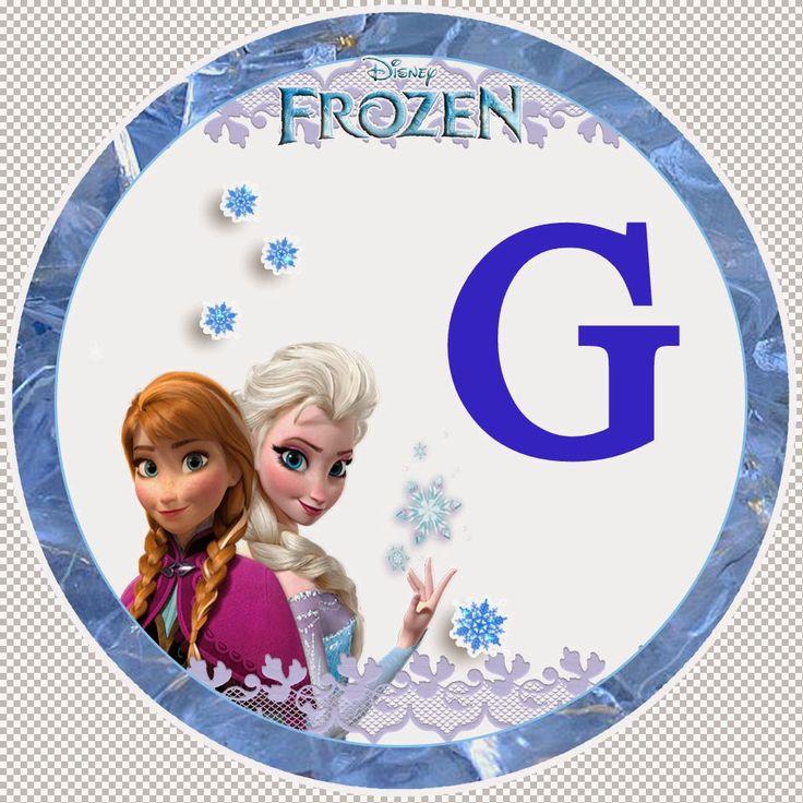 Dulce Alfabeto de Frozen. | Oh my Alfabetos!