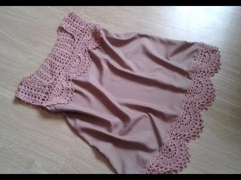 Топ - блуза. Вязание + ткань. Часть 4. Фотоальбом. - YouTube