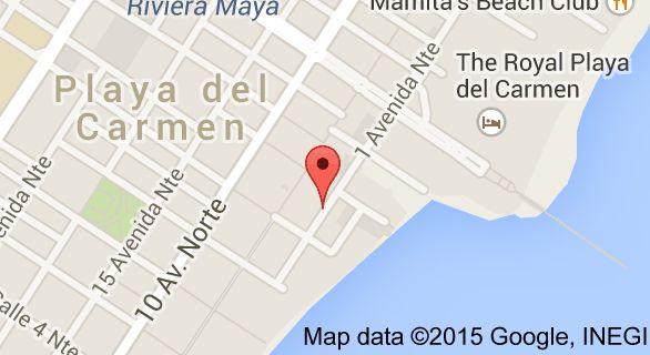 Map of Villas Sacbe Condo Hotel and Beach Club