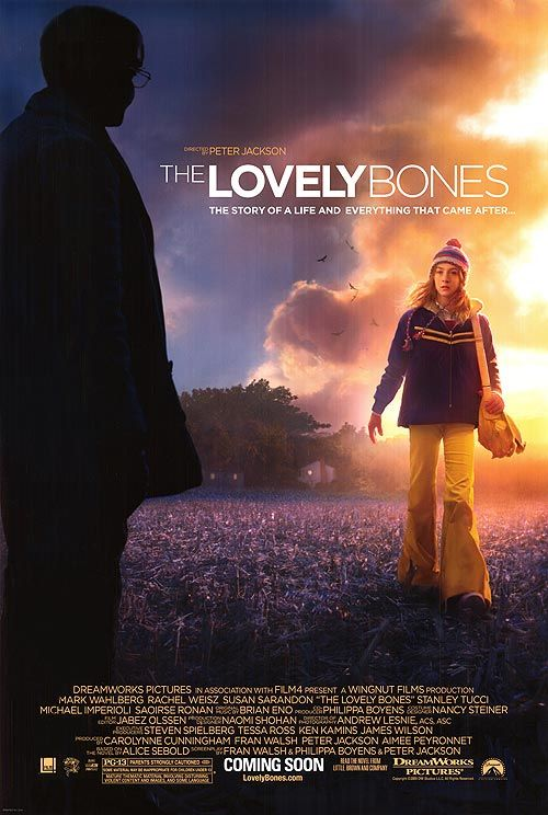 LOVELY BONES..I saw this movie ONE DAY before going into a coma from bacterial meningitis. .I like the movie, but its difficult for me to watch it.
