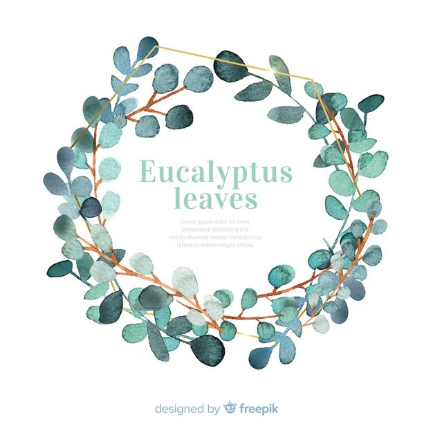 Download Watercolor Eucalyptus Leaves Wreath For Free In 2020