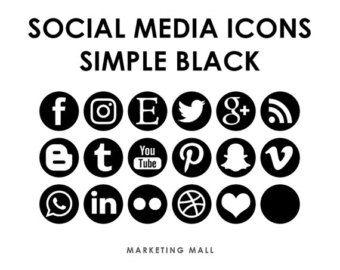 Oro de Rose Social Media iconos botones de redes sociales